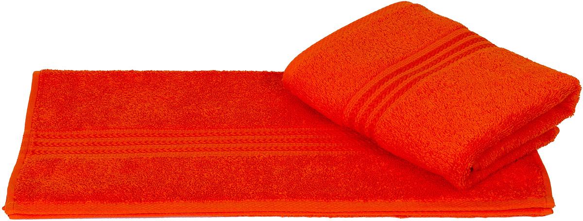 Полотенце Hobby Home Collection Rainbow, цвет: оранжевый, 70 х 140 см68/5/1Полотенце Hobby Home Collection Rainbow выполнено из 100% хлопка. Изделие отлично впитывает влагу, быстро сохнет, сохраняет яркость цвета и не теряет форму даже после многократных стирок. Такое полотенце очень практично и неприхотливо в уходе. А простой, но стильный дизайн полотенца позволит ему вписаться даже в классический интерьер ванной комнаты.
