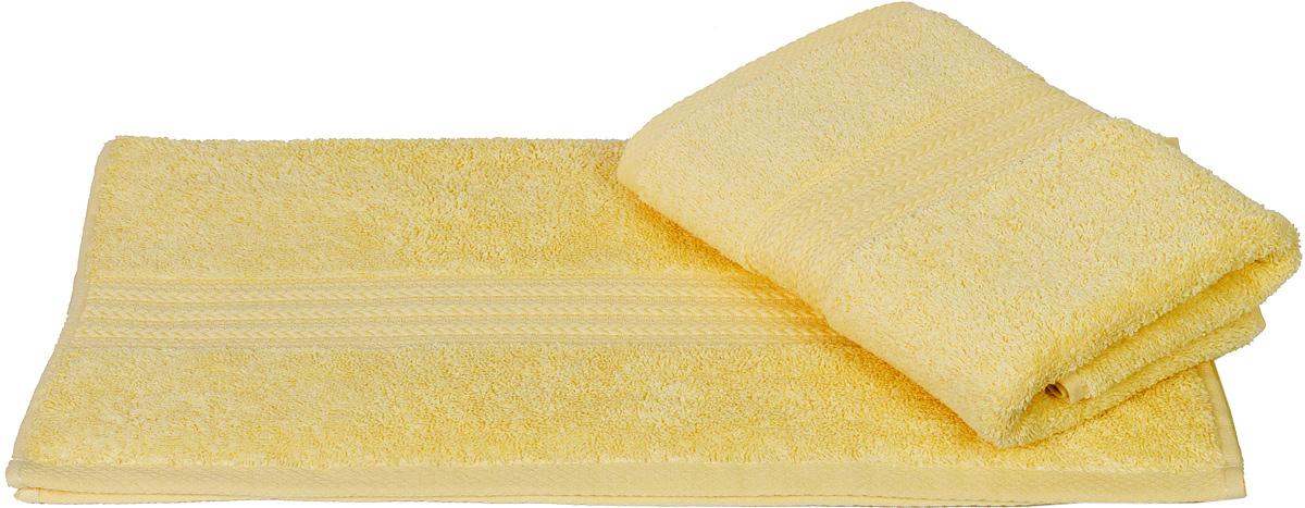 Полотенце Hobby Home Collection Rainbow, цвет: светло-желтый, 70 х 140 см68/5/3Полотенце Hobby Home Collection Rainbow выполнено из 100% хлопка. Изделие отлично впитывает влагу, быстро сохнет, сохраняет яркость цвета и не теряет форму даже после многократных стирок. Такое полотенце очень практично и неприхотливо в уходе. А простой, но стильный дизайн полотенца позволит ему вписаться даже в классический интерьер ванной комнаты.