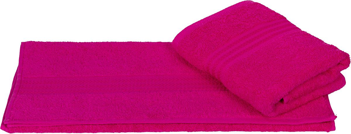 Полотенце Hobby Home Collection Rainbow, цвет: фуксия, 70 х 140 см68/5/3Полотенце Hobby Home Collection Rainbow выполнено из 100% хлопка. Изделие отлично впитывает влагу, быстро сохнет, сохраняет яркость цвета и не теряет форму даже после многократных стирок. Такое полотенце очень практично и неприхотливо в уходе. А простой, но стильный дизайн полотенца позволит ему вписаться даже в классический интерьер ванной комнаты.