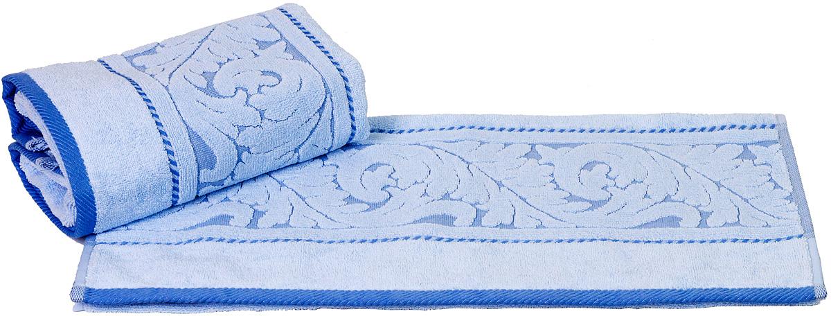 Полотенце Hobby Home Collection Sultan, цвет: голубой, 70 х 140 смCLP446Полотенце Hobby Home Collection Sultan выполнено из 100% хлопка. Изделие отлично впитывает влагу, быстро сохнет, сохраняет яркость цвета и не теряет форму даже после многократных стирок. Такое полотенце очень практично и неприхотливо в уходе. А простой, но стильный дизайн полотенца позволит ему вписаться даже в классический интерьер ванной комнаты.
