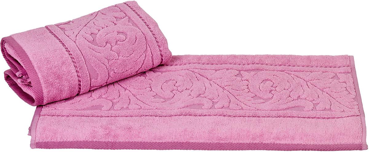 Полотенце Hobby Home Collection Sultan, цвет: розовый, 70 х 140 см68/5/3Полотенце Hobby Home Collection Sultan выполнено из 100% хлопка. Изделие отлично впитывает влагу, быстро сохнет, сохраняет яркость цвета и не теряет форму даже после многократных стирок. Такое полотенце очень практично и неприхотливо в уходе. А простой, но стильный дизайн полотенца позволит ему вписаться даже в классический интерьер ванной комнаты.