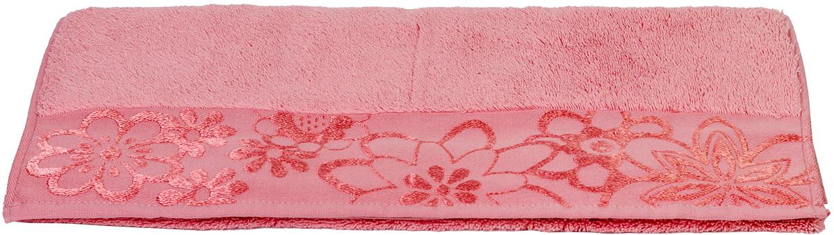 Полотенце Hobby Home Collection Dora, цвет: розовый, 30 х 50 см12723Полотенце Hobby Home Collection Dora выполнено из 100% хлопка. Изделие отлично впитывает влагу, быстро сохнет, сохраняет яркость цвета и не теряет форму даже после многократных стирок. Такое полотенце очень практично и неприхотливо в уходе. А простой, но стильный дизайн полотенца позволит ему вписаться даже в классический интерьер ванной комнаты.