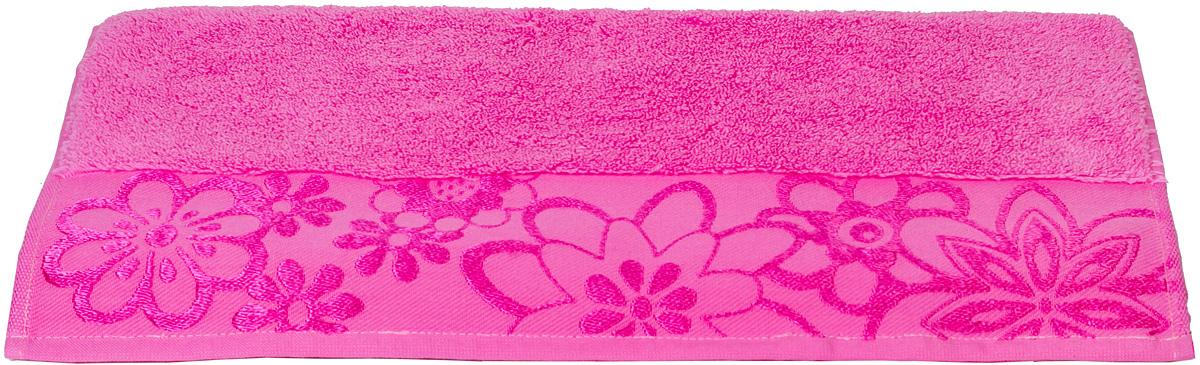 Полотенце Hobby Home Collection Dora, цвет: темно-розовый, 30 х 50 см68/5/2Полотенце Hobby Home Collection Dora выполнено из 100% хлопка. Изделие отлично впитывает влагу, быстро сохнет, сохраняет яркость цвета и не теряет форму даже после многократных стирок. Такое полотенце очень практично и неприхотливо в уходе. А простой, но стильный дизайн полотенца позволит ему вписаться даже в классический интерьер ванной комнаты.
