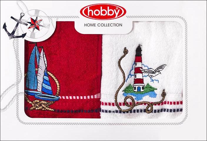 Полотенце махровое Hobby Home Collection Marina, цвет: белый, красный, 50х90 см, 2 шт68/5/1Полотенца марки Хобби уникальны и разрабатываются эксклюзивно для данной марки. При создании коллекции используются самые высокотехнологичные ткацкие приемы. Дизайнеры марки украшают вещи изысканным декором. Коллекция линии соответствует актуальным тенденциям, диктуемым мировыми подиумами и модой в области домашнего текстиля.