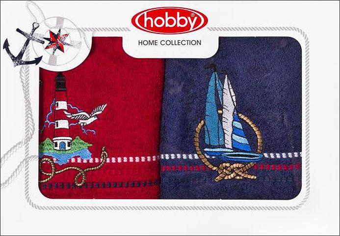 Полотенце махровое Hobby Home Collection Marina, цвет: красный, синий, 50х90 см, 2 шт68/5/3Полотенца марки Хобби уникальны и разрабатываются эксклюзивно для данной марки. При создании коллекции используются самые высокотехнологичные ткацкие приемы. Дизайнеры марки украшают вещи изысканным декором. Коллекция линии соответствует актуальным тенденциям, диктуемым мировыми подиумами и модой в области домашнего текстиля.