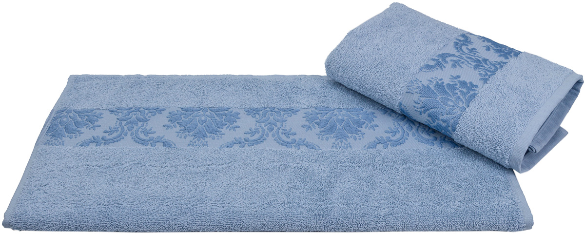 Полотенце Hobby Home Collection Ruzanna, цвет: голубой, 100 х 150 см68/5/3Полотенце Hobby Home Collection Ruzanna выполнено из 100% хлопка. Изделие отлично впитывает влагу, быстро сохнет, сохраняет яркость цвета и не теряет форму даже после многократных стирок. Такое полотенце очень практично и неприхотливо в уходе. А простой, но стильный дизайн полотенца позволит ему вписаться даже в классический интерьер ванной комнаты.