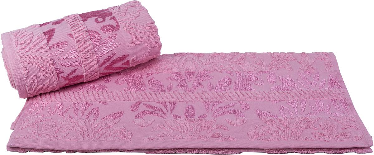 Полотенце Hobby Home Collection Versal, цвет: розовый, 50 х 90 см80663Полотенце Hobby Home Collection Versal выполнено из 100% хлопка. Изделие отлично впитывает влагу, быстро сохнет, сохраняет яркость цвета и не теряет форму даже после многократных стирок. Такое полотенце очень практично и неприхотливо в уходе. А простой, но стильный дизайн полотенца позволит ему вписаться даже в классический интерьер ванной комнаты.