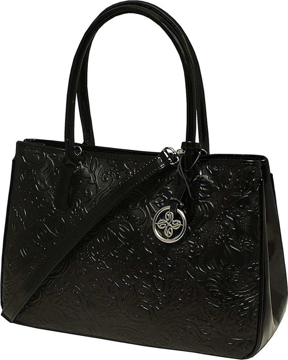 Сумка женская Dimanche, цвет: черный. 443/111RA-B86-05-CУдобная женская сумка Dimanche выполнена из высококачественной натуральной кожи. На задней стороне сумки имеется карман на молнии, по бокам оснащены - оригинальные кнопочки позволяющие варьировать внутренний объем. Закрывается сумка на молнию, внутри дополнена одним боковым карманом на молнии и двумя открытыми кармашками. Внутреннее пространство сумки разделено на два отделения карманом-перегородкой с молнией. В комплект входитотстегивающийся ремень для ношения сумки на плече, который регулируется по длине.
