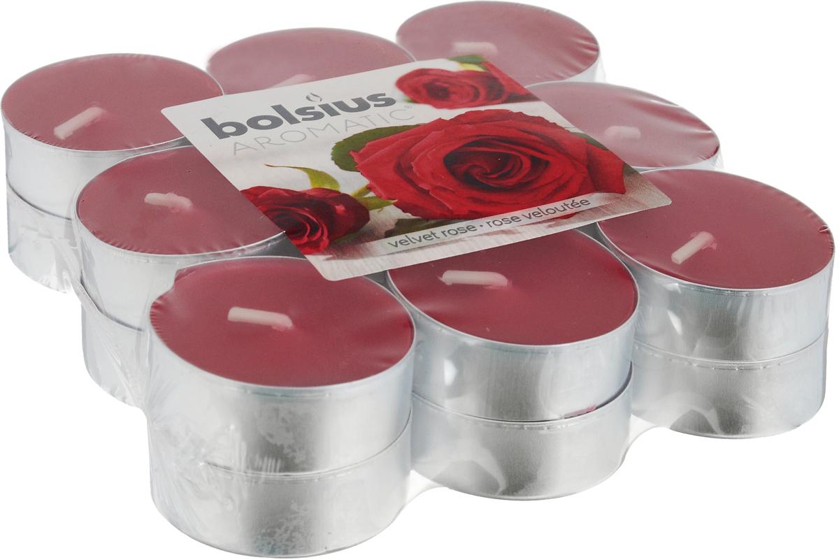 Свеча ароматическая чайная Bolsius Роза, 18 шт38852Свеча ароматическая Bolsius Роза создаст в доме атмосферу тепла и уюта. Чайная свеча в металлической подставке приятно смотрится в интерьере, она безопасна и удобна в использовании. Свеча создаст приятное мерцание, а сладкий манящий аромат окутает вас и подарит приятные ощущения.Время горения: 4 ч.