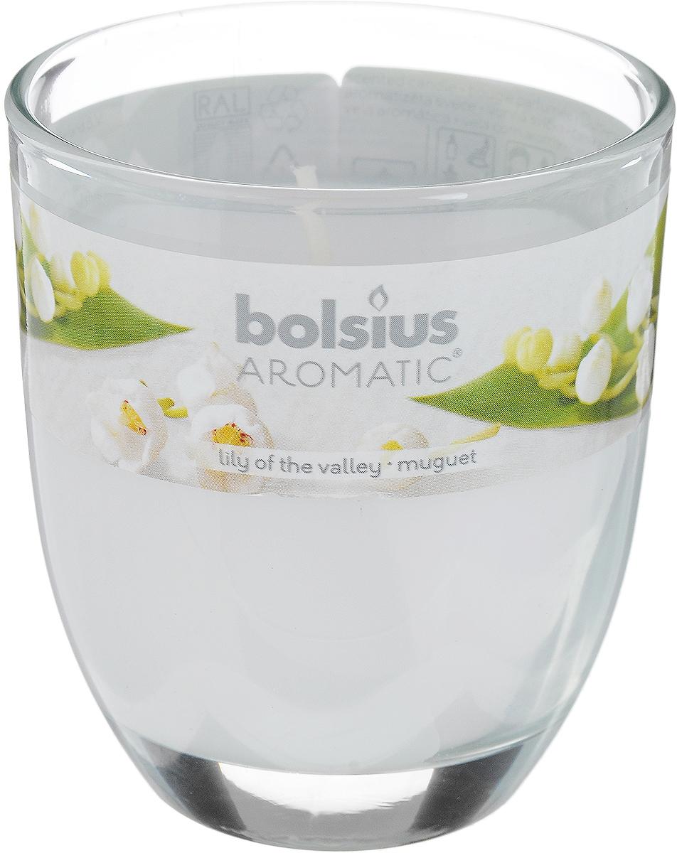 Свеча ароматическая Bolsius Ландыш, 7 х 7 х 8 смN10247Ароматизированная свеча Bolsius Ландыш изготовлена из воска и поставляется в подсвечнике в виде стеклянного стакана. Изделие отличается оригинальным дизайном и приятным ароматом. Такая свеча может стать отличным подарком или дополнить интерьер вашей комнаты.