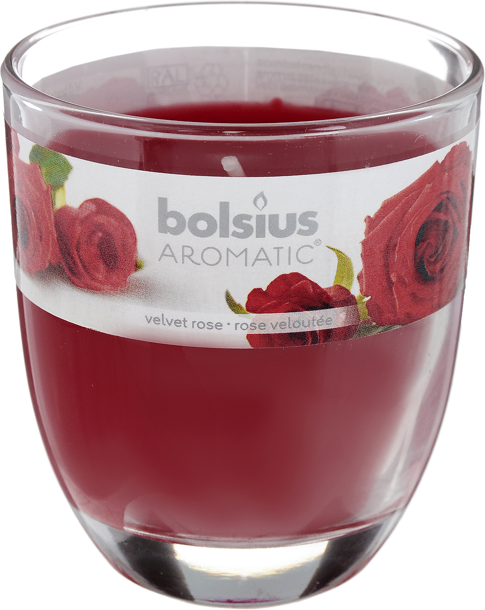 Свеча ароматическая Bolsius Роза, 7 х 7 х 8 смБрелок для ключейАроматизированная свеча Bolsius Роза изготовлена из воска и поставляется в подсвечнике в виде стеклянного стакана. Изделие отличается оригинальным дизайном и приятным ароматом. Такая свеча может стать отличным подарком или дополнить интерьер вашей комнаты.