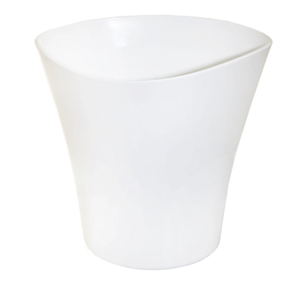 Кашпо JetPlast Волна, цвет: белый, 3 л44164Кашпо Волна имеет уникальную форму, сочетающуюся как с классическим, так и с современным дизайном интерьера. Разнообразие цветов дает возможность подобрать кашпо именно под ваш стиль.