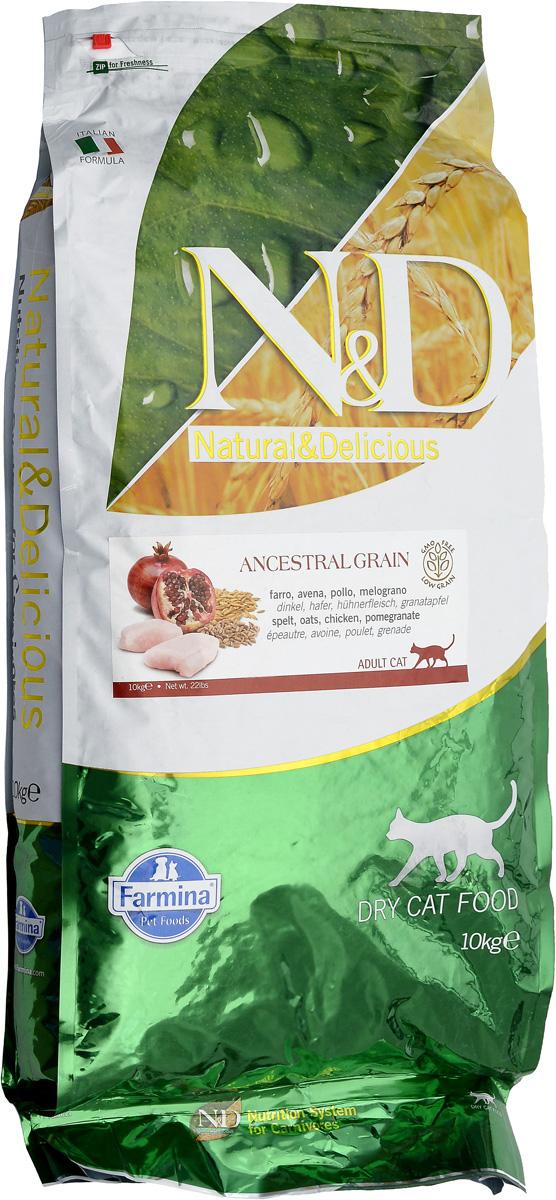 Корм сухой для взрослых кошек Farmina N&D, низкозерновой, с курицей и гранатом, 10 кг101246Сухой корм Farmina N&D является низкозерновым полноценным питанием для взрослых кошек. Изделие имеет высокое содержание витаминов и питательных веществ. Сухой корм содержит натуральные компоненты, которые необходимы для полноценного и здорового питания домашних животных.Товар сертифицирован.