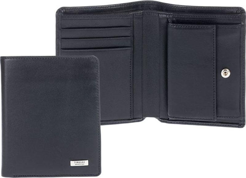 Портмоне Tirelli, цвет: черный. 15-311-07BM8434-58AEКомпактное портмоне Tirelli Коньяк изготовлено из натуральной кожи, закрывается на кнопку. Внутри содержится два отделения для купюр, 3 кармашка для пластиковых карт, четыре потайных кармашка и монетница на кнопке. Портмоне станет изысканным модным аксессуаром, который идеально дополнит ваш образ.