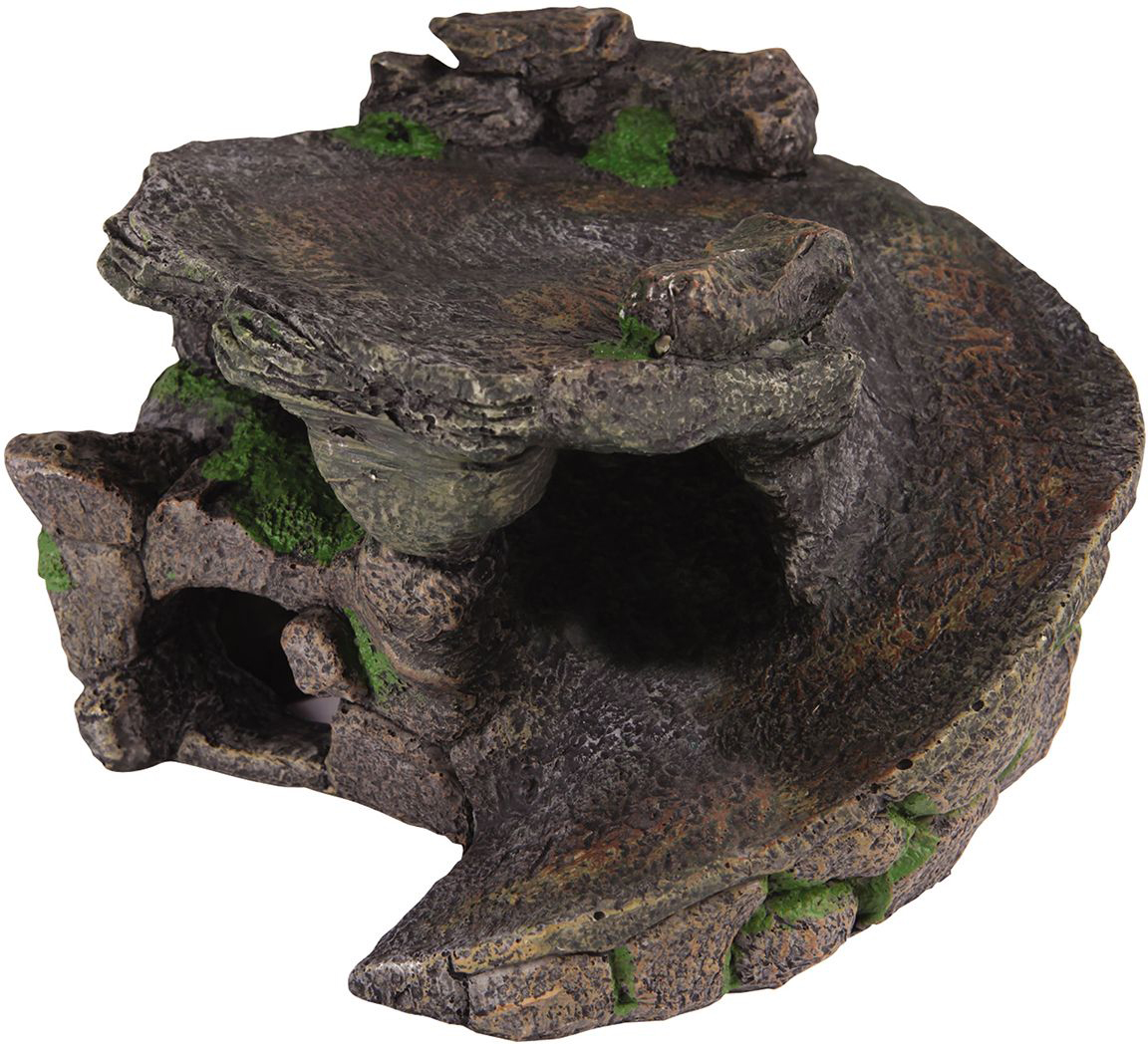 Декорация для аквариума Dezzie Убежище, для черепах, 23 х 22,5 х 14 см декорация для аквариума penn plax череп мамонта 11 4 х 23 5 х 12 7 см