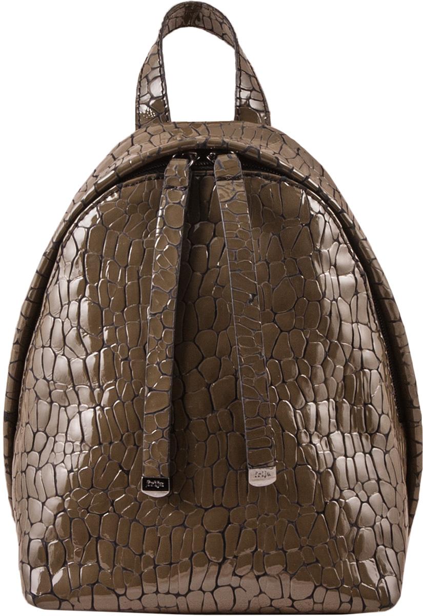Рюкзак женский Frija, цвет: хаки. 21-0347-BDS76245Модный рюкзак выполнен изнатуральной кожи, достойно дополнит строгий или повседневный образ. Благородные цвета, удобство в ношении, вместительность - главные преимущества модели, один вместительный отдел, внутри которого есть карман на молнии. Модель закрывается на двустороннюю молнию, хорошо держит форму.