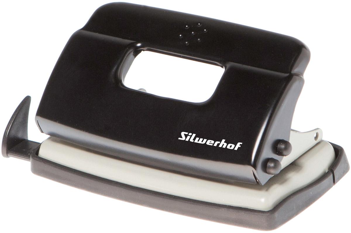 Silwerhof Дырокол Debut на 10 листов цвет черныйKM-8810M-014Надежный цельнометаллический дырокол Silwerhof Debut - это незаменимый офисный инструмент для перфорации бумаги и картона.Металлический дырокол с нескользящим основанием предназначен для одновременной перфорации до 10 листов бумаги 80г/м. Для удобства он оснащен выдвижной линейкой с разметкой для документов различных форматов, а также имеет съемный резервуар для обрезков бумаги, встроенный в основание.Также у данного атрибута присутствует окно для персонализации и пластиковый поддон для сбора конфетти с функцией частичного открывания.