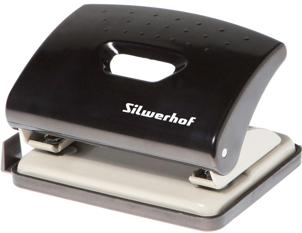 Silwerhof Дырокол Primer на 16 листов цвет черныйFS-36052Надежный дырокол Silwerhof Primer - это незаменимый офисный инструмент для перфорации бумаги и картона.Металлический дырокол с нескользящим основанием предназначен для одновременной перфорации до 16 листов бумаги 80г/м. Для удобства оснащен выдвижной линейкой с разметкой для документов различных форматов.Также у данного атрибута пробивной механизм из легированной стали, нажимная часть из ударопрочного пластика и пластиковый поддон для сбора конфетти с функцией частичного открывания.