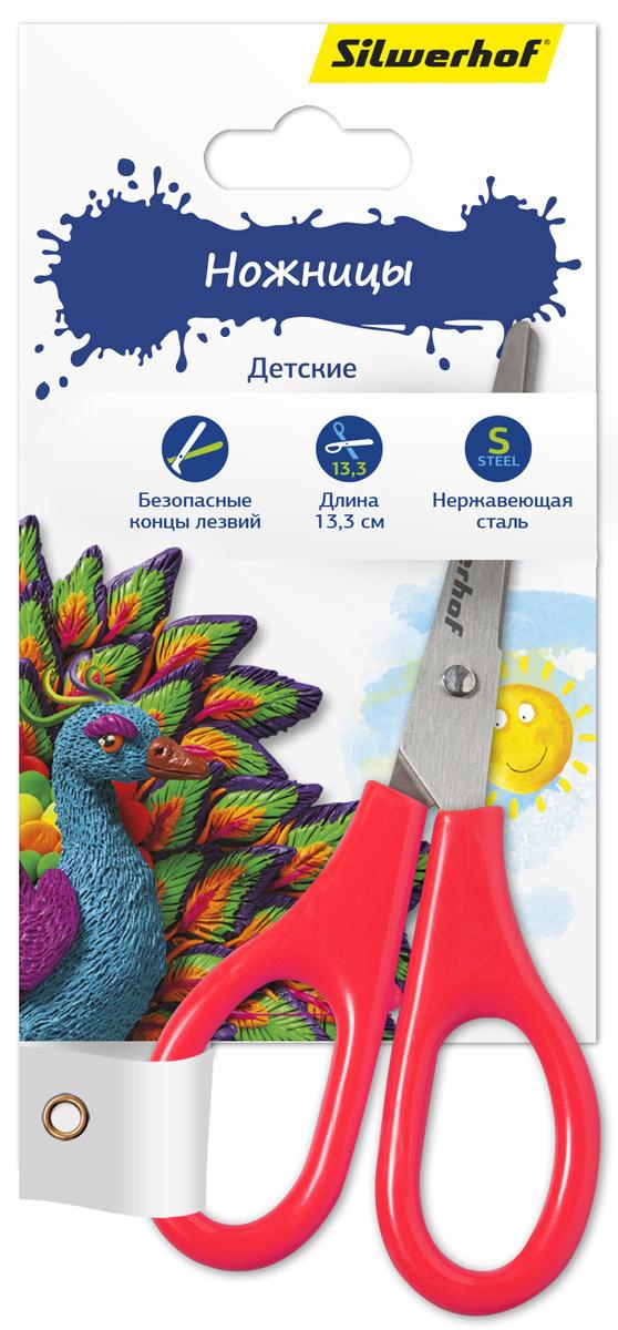 Silwerhof Ножницы детские Пластилиновая коллекция цвет коралловый 13,3 смAC-1121RDДетские ножницы Silwerhof Пластилиновая коллекция прекрасно подойдут для детского творчества.Лезвия выполнены из высокоуглеродистой стали с закругленными концами, что делает процесс работы с ними безопасным для ребенка. Благодаря эргономичной форме пластиковых ручек, модель отлично ложится как в детскую, так и во взрослую руку.Ножницы хорошо справляются с резкой бумаги, картона и станут незаменимым помощником в процессе создания аппликаций и других поделок.