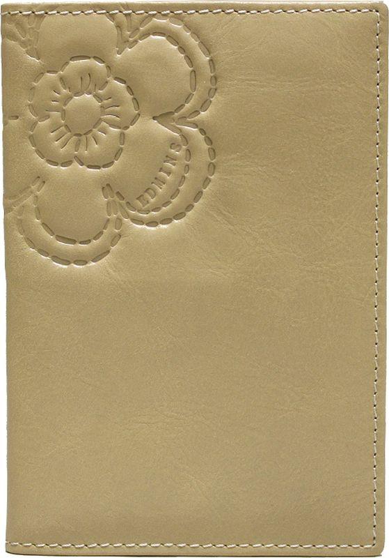 Обложка для паспорта женская Edmins, цвет: бежевый. 13843 NLK ED FLKW064-000016Обложка для паспорта Edmins выполнена из натуральной кожи с гладкой фактурой и оформлена тиснением в виде цветка и символики бренда. Подкладка изготовлена из полиэстера.Изделие раскладывается пополам. Внутри размещены два накладных кармашка из кожи. В коллекциях кожгалантереи Edmins удачно сочетаются итальянская классика и шведский прагматизм, новаторство молодых дизайнеров и работы именитых мастеров, строгая цветовая гамма и смелые эксперименты с цветом. Изделия Edmins, разработанные в Италии, отличает высокое качество кожи, прекрасная износостойкость и актуальность коллекций.Изделие упаковано в фирменную коробку.