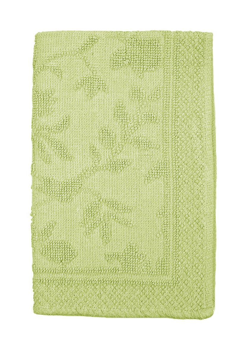 Коврик прикроватный Arloni Кармен, цвет: зеленый, 60 х 90 смFS-91909Прикроватный коврик Arloni выполнен из 100% хлопка. Коврик долго прослужит в вашем доме, добавляя тепло и уют, а также внесет неповторимый колорит в интерьер любой комнаты.