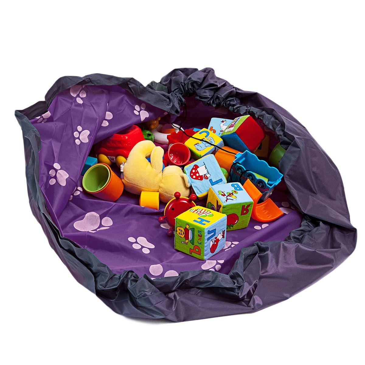 Сумка-коврик Homsu  Лужайка , цвет: фиолетовый, 150х150 см - Подушки, пледы, коврики