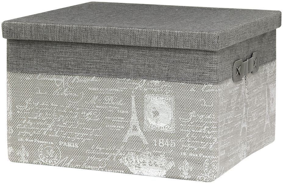 Кофр для хранения EL Casa Париж. Серебро, складной, с крышкой, 34 х 34 х 22 см1579585704012Компактный складной кофр EL Casa Париж. Серебро изготовлен из высококачественного полиэстера, который обеспечивает естественную вентиляцию, позволяя воздуху проникать внутрь, не пропуская пыль. Благодаря специальным вставкам, кофр прекрасно держит форму, а эстетичный дизайн гармонично смотрится в любом интерьере. Легко складывается и раскладывается, имеет ручки для удобства. Также кофр оснащен крышкой, которая защитит от пыли и солнечных лучей.