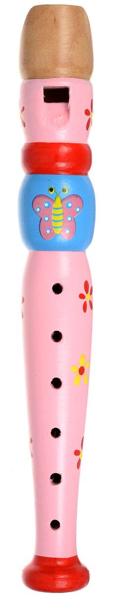 Мир деревянных игрушек Дудочка Бабочка цвет голубой розовый красный