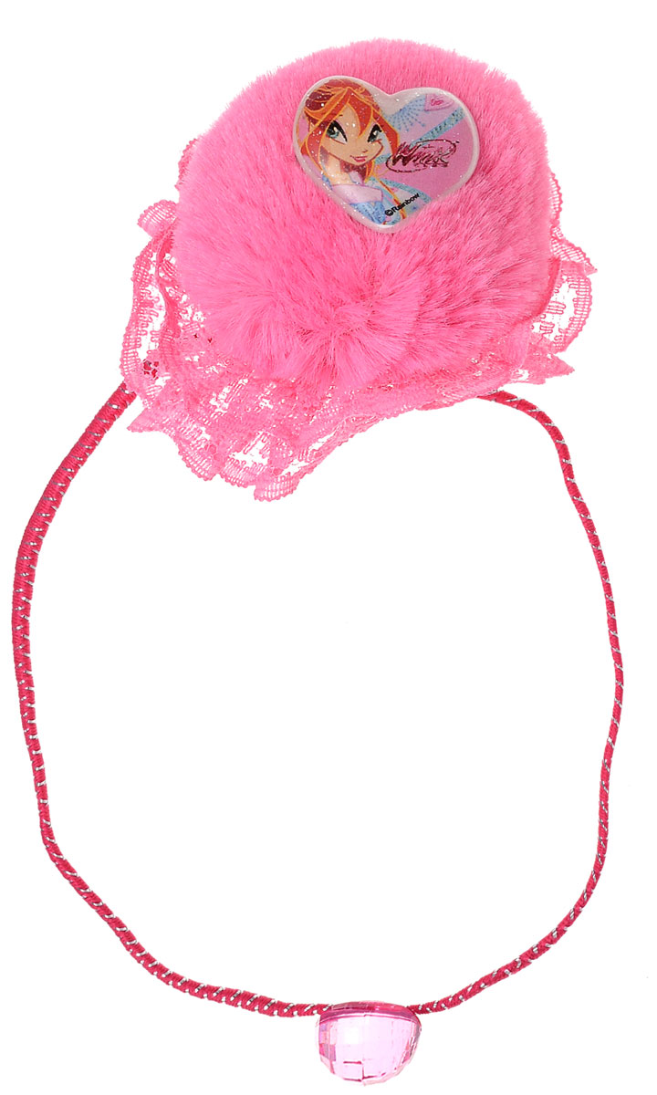 Резинка для волос для девочки Winx Club, цвет: розовый. 14031Satin Hair 7 BR730MNОригинальная резинка для волос Winx Club станет изюминкой образа юной леди. Изделие изготовлено из гипоаллергенных материалов, не имеет заостренных деталей и абсолютно безопасно для ребенка. Резинка выполнена из полиэстера и декорирована кружевом и пушистым помпоном с символикой бренда. В комплекте идут две резинки. Рекомендуемый возраст: от 3х лет.