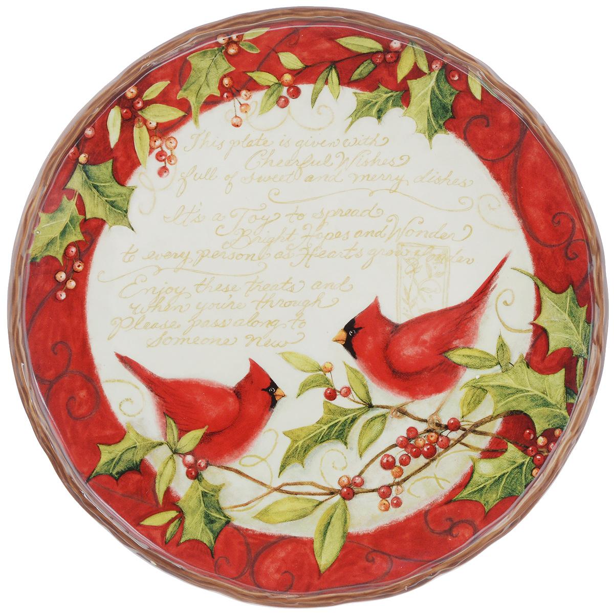 Блюдо Certified International Зимнее чудо, диаметр 30 см115510Блюдо Certified International Зимнее чудо, изготовленное из керамики, отлично подойдет для красивой сервировки различных блюд. Изделие придется по вкусу и ценителям классики, и тем, кто предпочитает утонченность и изысканность.Блюдо Certified International Зимнее чудо идеально подойдет для сервировки стола и станет отличным подарком к любому празднику.Диаметр по верхнему краю: 30 см.