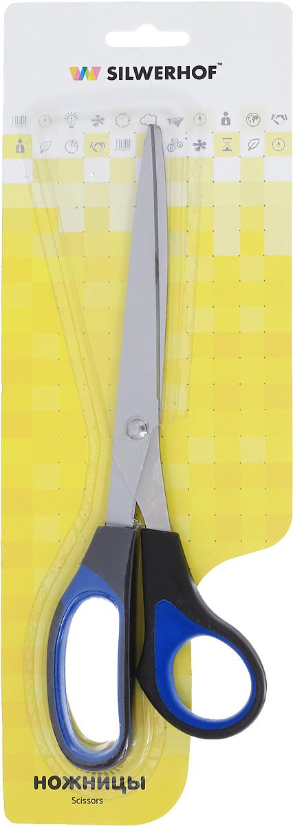 Silwerhof Ножницы офисные Titanlinie 23 смB5408Офисные ножницы Silwerhof Titanlinie имеют лезвия из высококачественной нержавеющей стали с титановым покрытием, специальные прорезиненные вставки на кольцах.Ножницы предназначены для резки бумаги, картона, фотографий.