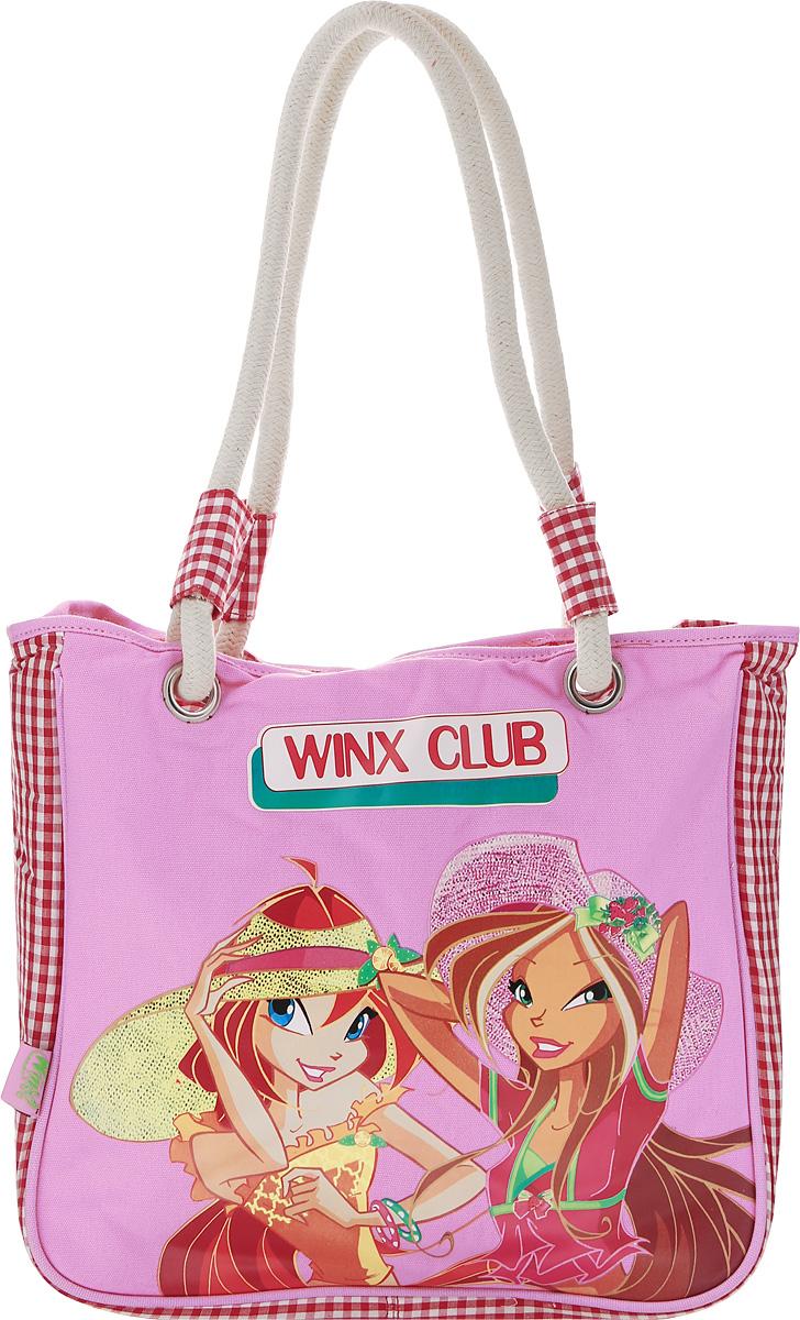 Winx Сумка детская72523WDОбъемная сумка с ручками Winx станет неотъемлемой частью гардероба каждой маленькой леди.С такой сумкой удобно ходить на учебу, прогулку или по магазинам. Данная модель гармонично сочетает в себе стиль и функциональность. У сумки - одно основное вместительное отделение, в котором можно рационально разместить все необходимое. Данную модель можно носить в руках или на плече.Эффектный внешний вид дополняет яркий принт.
