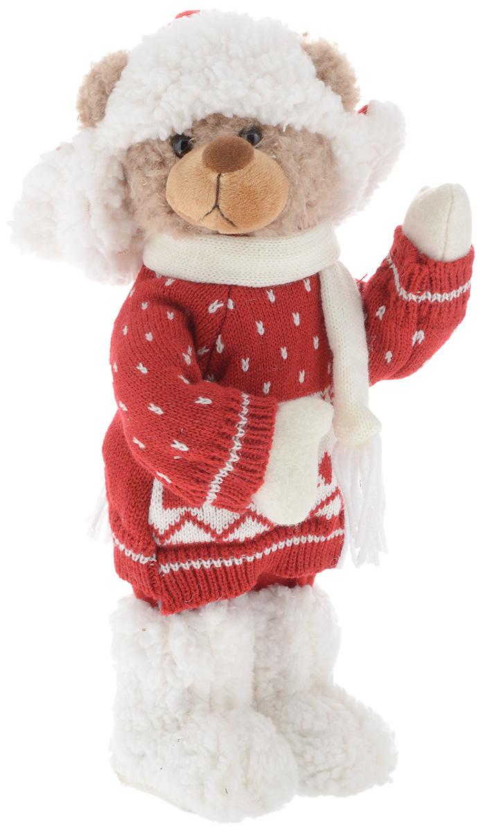 Фигурка новогодняя ESTRO Медведь, цвет: белый, красный, высота 35 смCD-32Декоративная фигурка Медведь изготовлена из высококачественных материалов в оригинальном стиле. Фигурка выполнена в виде медведя в зимнем наряде.Уютнаяи милая интерьерная игрушка предназначена для взрослых и детей, для игр и украшения новогодней елки, да и просто, для создания праздничной атмосферыв интерьере! Фигурка прекрасно украсит ваш дом к празднику, а в остальные дни с ней с удовольствием будут играть дети. Оригинальный дизайн и красочное исполнение создадут праздничное настроение. Фигурка создана вручную, неповторима и оригинальна. Порадуйте своих друзей и близких этим замечательным подарком!