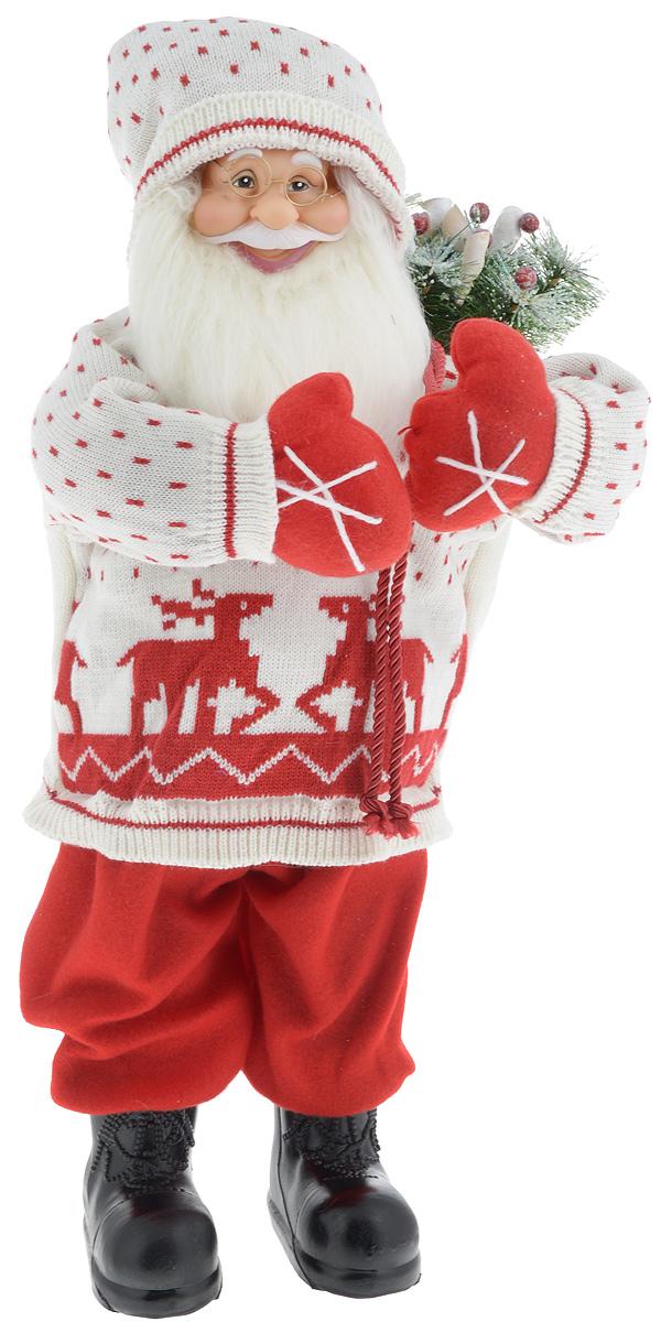 Фигурка новогодняя ESTRO Дед Мороз с мешком, цвет: белый, красный, высота 65 смCD-12Декоративная фигурка Дед Мороз с мешком изготовлена из высококачественных материалов в оригинальном стиле. Фигурка выполнена в виде Деда Мороза с мешком подарков.Уютнаяи милая интерьерная игрушка предназначена для взрослых и детей, для игр и украшения новогодней елки, да и просто, для создания праздничной атмосферыв интерьере! Фигурка прекрасно украсит ваш дом к празднику, а в остальные дни с ней с удовольствием будут играть дети. Оригинальный дизайн и красочное исполнение создадут праздничное настроение. Фигурка создана вручную, неповторима и оригинальна. Порадуйте своих друзей и близких этим замечательным подарком!.