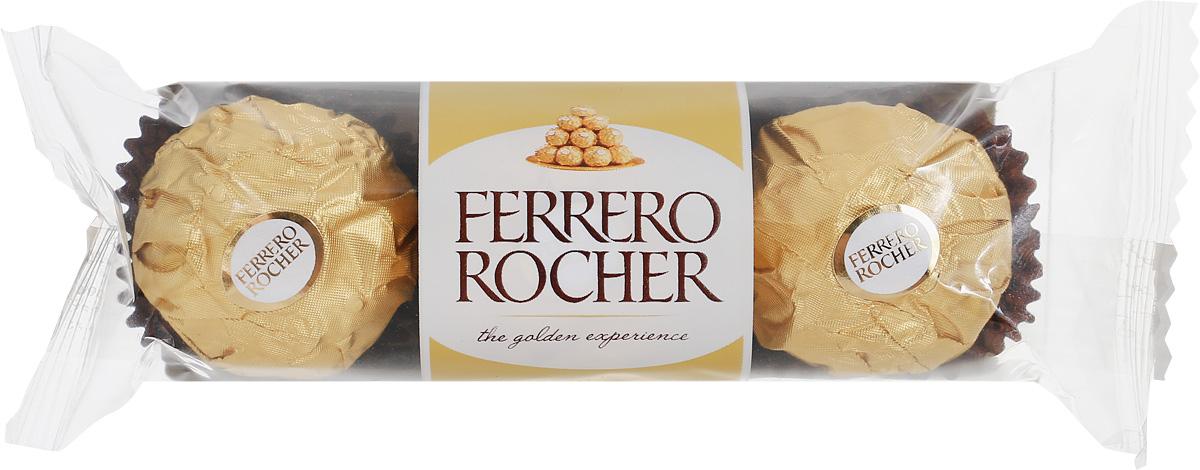 Ferrero Rocher конфеты из молочного шоколада с начинкой из крема и лесного ореха, 37,5 г018745Ferrero Rocher - это отборный цельный лесной орех в окружении молочного шоколада и нежного орехового крема, заключенные в хрустящую вафельную оболочку, покрытую шоколадно-ореховой крошкой.Уважаемые клиенты! Обращаем ваше внимание, что полный перечень состава продукта представлен на дополнительном изображении.Упаковка может иметь несколько видов дизайна. Поставка осуществляется в зависимости от наличия на складе.