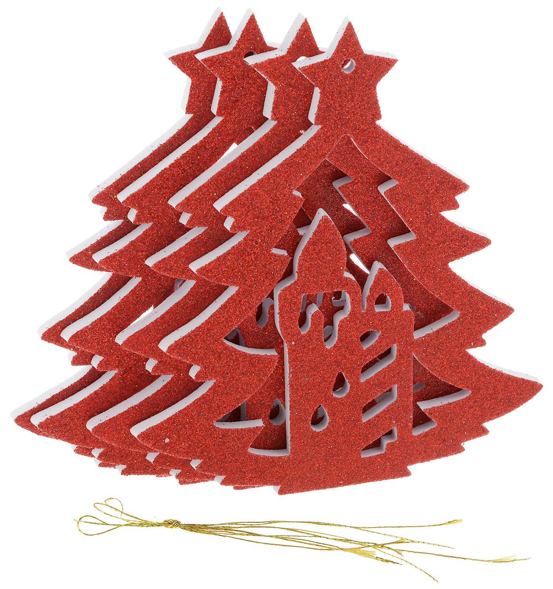Набор новогодних подвесных украшений House & Holder Елка, цвет: красный, 4 штRSP-202SНабор подвесных украшений House & Holder Елка прекрасно подойдет для праздничного декора новогодней ели. Набор состоит из 4 пластиковых украшений.Елочная игрушка - символ Нового года. Она несет в себе волшебство и красоту праздника. Создайте в своем доме атмосферу веселья и радости, украшая новогоднюю елку нарядными игрушками, которые будут из года в год накапливать теплоту воспоминаний. Откройте для себя удивительный мир сказок и грез. Почувствуйте волшебные минуты ожидания праздника, создайте новогоднее настроение вашим дорогим и близким.Размер: 11 х 0,5 х 12,5 см.