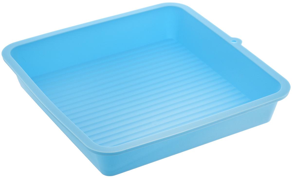 Форма для выпечки LaSella, силиконовая, цвет: голубой, 23 х 23 х 4,5 см68/5/4Форма для выпечки LaSella выполнена из высококачественного 100% пищевого силикона. Идеально подходит для приготовления выпечки, десертов и холодных закусок. Форма выдерживает температуру от -40 до +240°C, обладает естественными антипригарными свойствами. Не выделяет вредных веществ при высоких температурах. Подходит для использования в духовке и микроволновой печи. Размер формы: 23 х 23 х 4,5 см.