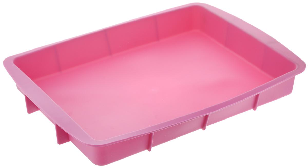 Форма для выпечки House & Holder, прямоугольная, силиконовая, цвет: розовый, 33,5 х 23 х 4 см68/5/4Форма для выпечки House & Holder выполнена из высококачественного пищевого силикона. Идеально подходит для приготовления выпечки, десертов и холодных закусок. Форма обладает естественными антипригарными свойствами. Не выделяет вредных веществ при высоких температурах. Подходит для использования в духовке и микроволновой печи.