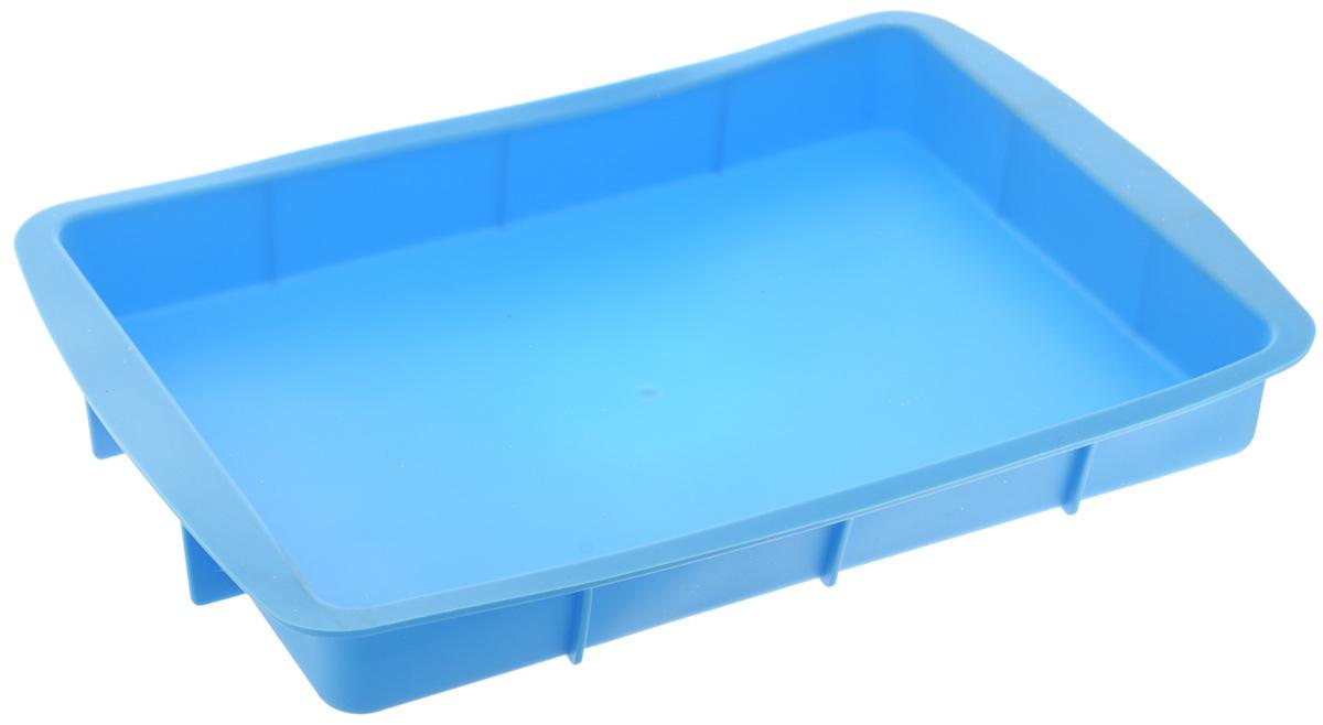 Форма для выпечки House & Holder, прямоугольная, силиконовая, цвет: голубой, 33,5 х 23 х 4 см68/5/3Форма для выпечки House & Holder выполнена из высококачественного пищевого силикона. Идеально подходит для приготовления выпечки, десертов и холодных закусок. Форма обладает естественными антипригарными свойствами. Не выделяет вредных веществ при высоких температурах. Подходит для использования в духовке и микроволновой печи.