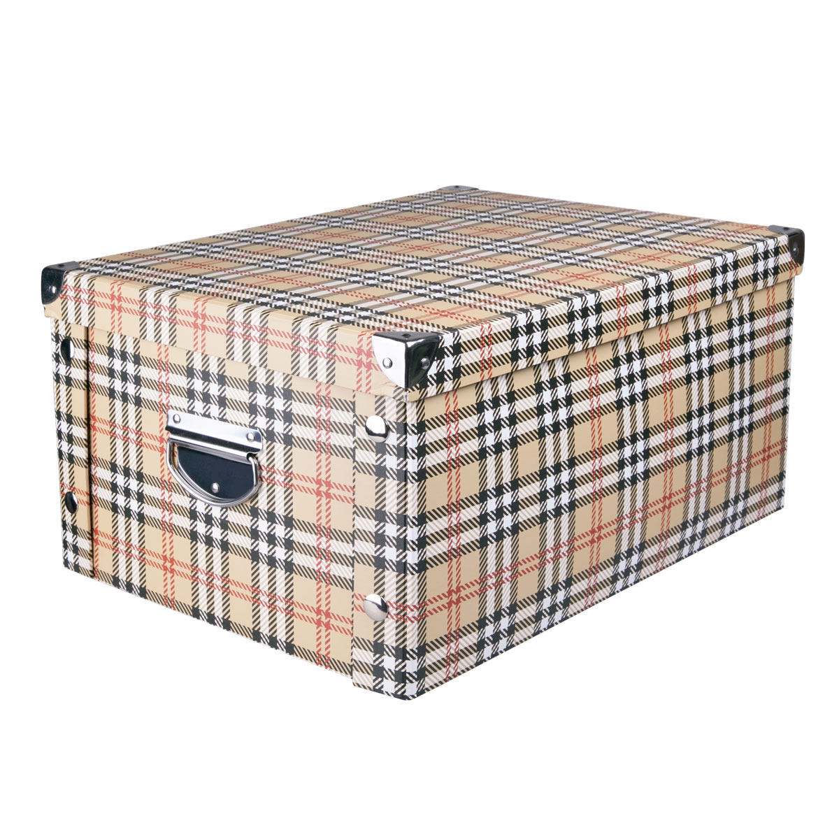Коробка для хранения Miolla, 45 х 35 х 22,5 см. CFB-081004900000360Коробка для хранения Miolla прекрасно подойдет для хранения бытовых мелочей, документов, аксессуаров для рукоделия и других мелких предметов. Коробка поставляется в разобранном виде, легко и быстро складывается. Плотная крышка и удобные для переноски металлические ручки станут приятным дополнением к функциональным достоинствам коробки. Удобная крышка не даст ни одной вещи потеряться, а оптимальный размер подойдет для любого шкафа или полки.Компактная, но при этом вместительная коробка для хранения станет яркой нотой в вашем интерьере.