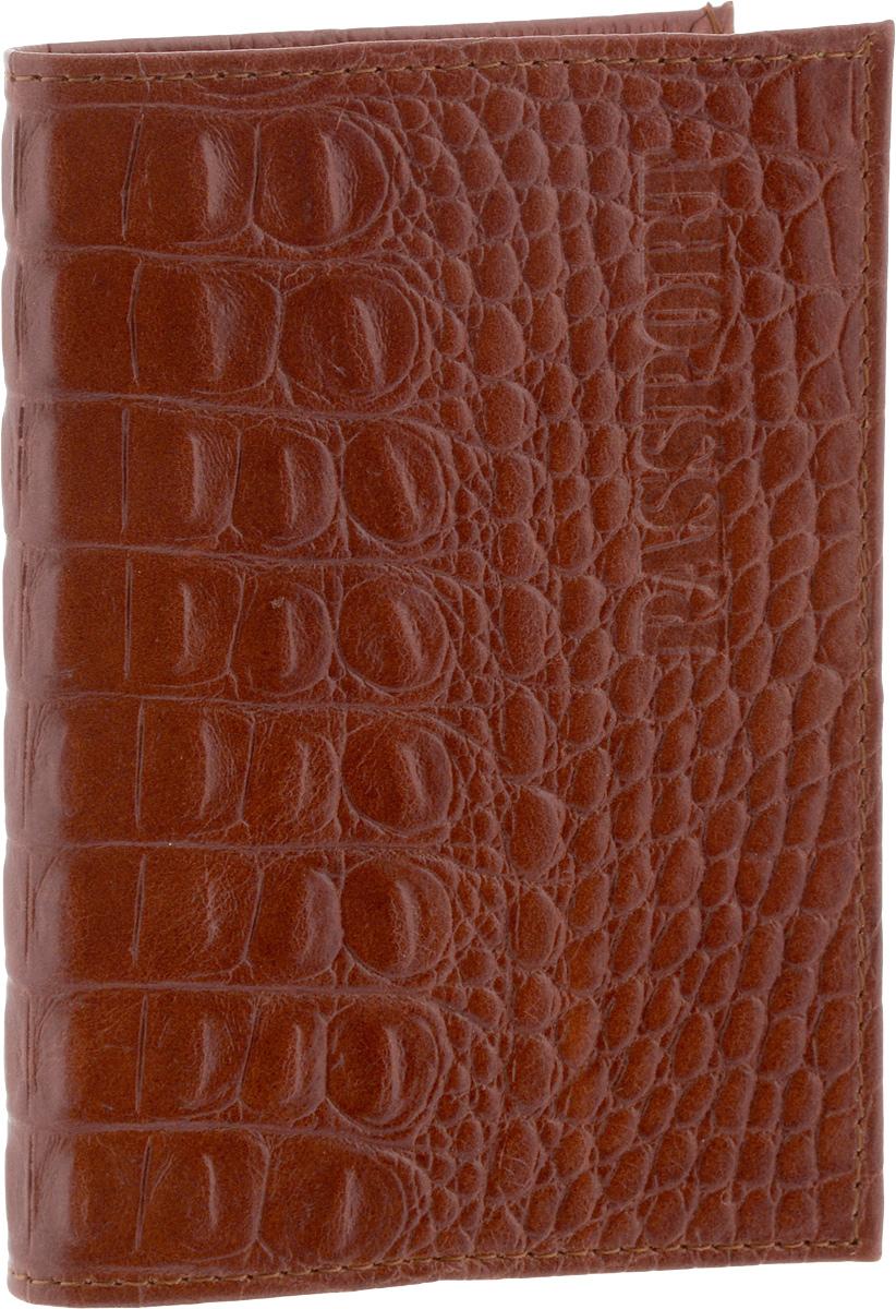 Обложка для паспорта Главдор, цвет: коричневый95536Стильная обложка для паспорта Главдор изготовлена из натуральной кожи. Внутри расположены 2 прозрачных кармашка для вашего паспорта. Такие обложки предназначены для защиты ваших документов от пыли, грязи и влаги. Они сохранят их целыми и невредимыми.