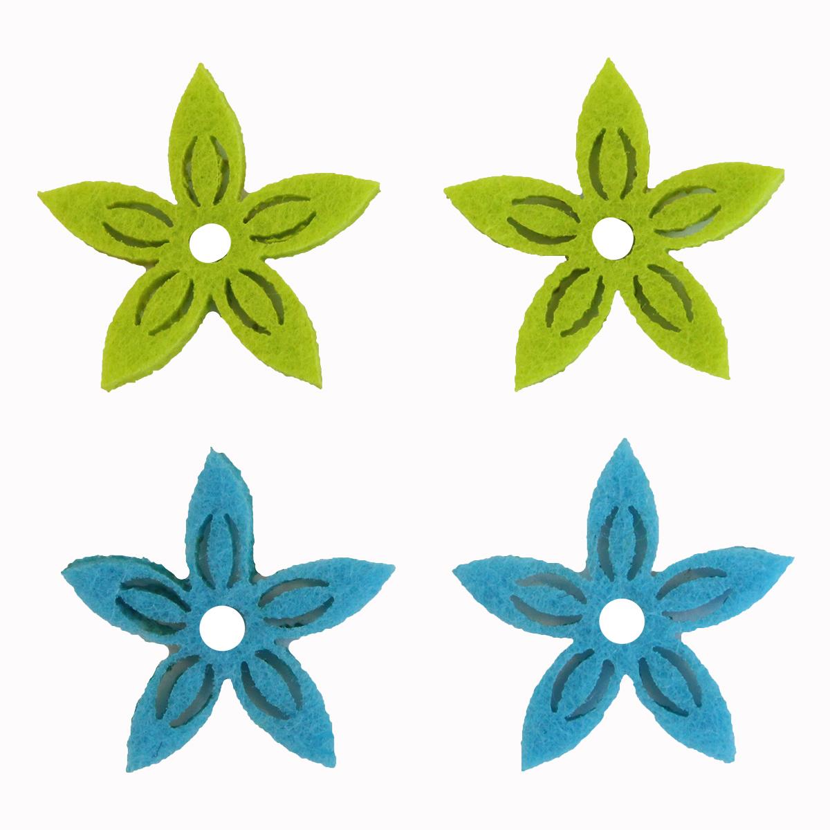 Фигурки из фетра Glorex Цветы, цвет: светло-голубой, светло-зеленый, 3 см, 12 шт19201Фетр пользуется большой популярностью среди рукодельниц. Его любят за эстетичный вид, практичность и отличную текстуру. Из данного материала вашему вниманию предлагаются заготовки Glorex. Широкое разнообразие цветов и форм поможет реализовать творческие задумки и гармоничным образом дополнить ваше творение. Из фетра можно создавать обложки для книг, ежедневников, игрушки, декоративные чехлы для подушек и многое, многое другое.