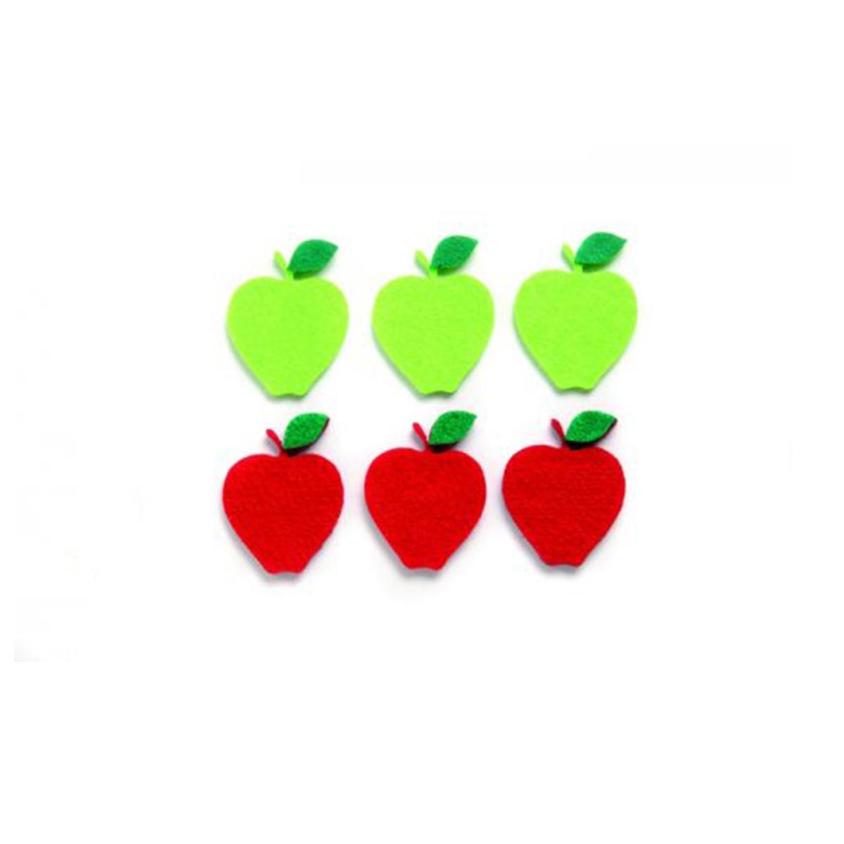 Фигурки из фетра Glorex Яблоки, цвет: красный, зеленый, 4,5 см, 6 штNLED-454-9W-BKФетр пользуется большой популярностью среди рукодельниц. Его любят за эстетичный вид, практичность и отличную текстуру. Из данного материала вашему вниманию предлагаются заготовки Glorex. Широкое разнообразие цветов и форм поможет реализовать творческие задумки и гармоничным образом дополнить ваше творение. Из фетра можно создавать обложки для книг, ежедневников, игрушки, декоративные чехлы для подушек и многое, многое другое.