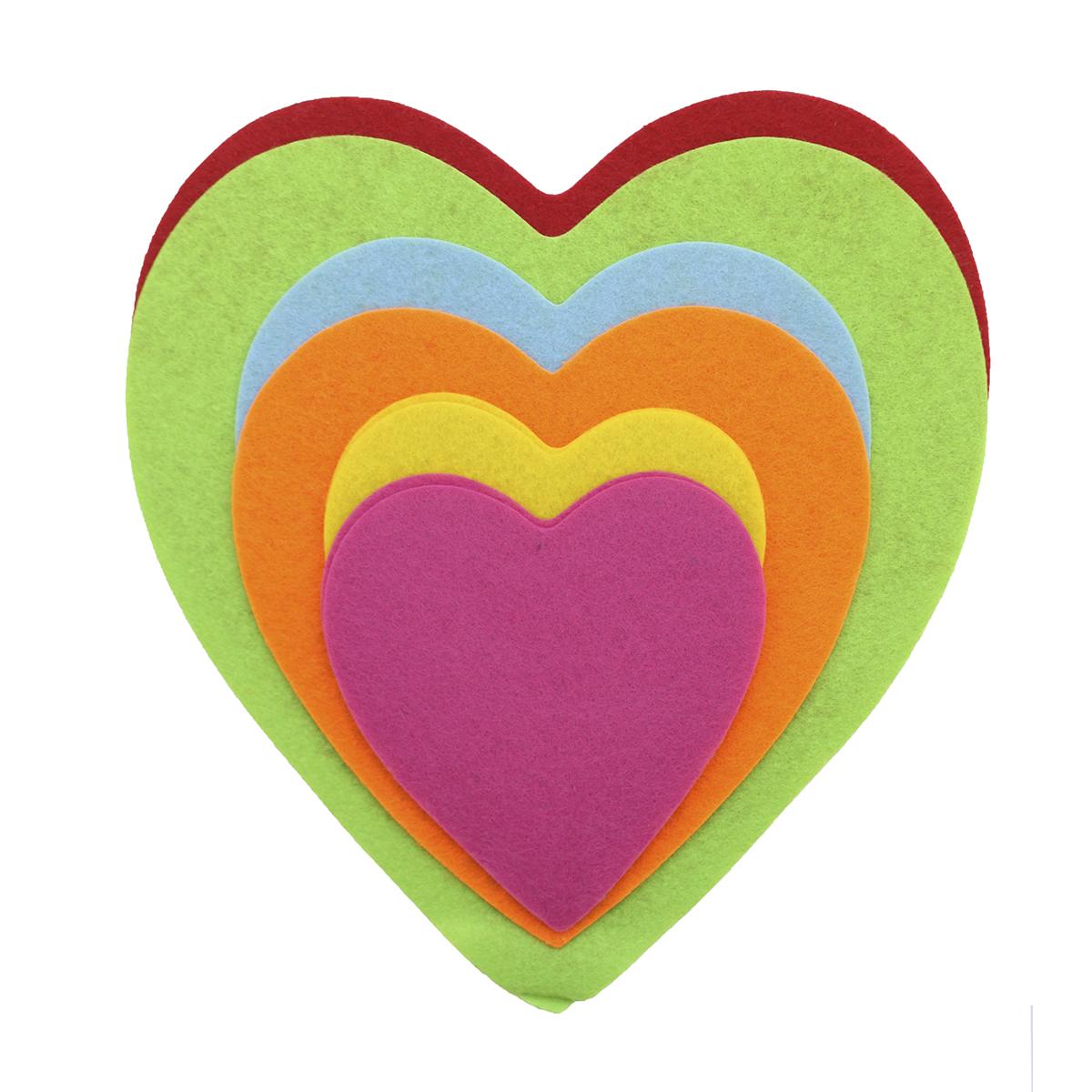 Фетр для творчества Glorex Сердце большое, 8 штSS 4041Фетр для творчества Glorex Сердце большое изготовлен из 100% полиэстера. Фетр является отличным материалом для декора и флористики. Используется для изготовления открыток ручной работы и скрап-страничек, для созданиябижутерии и многого другого.