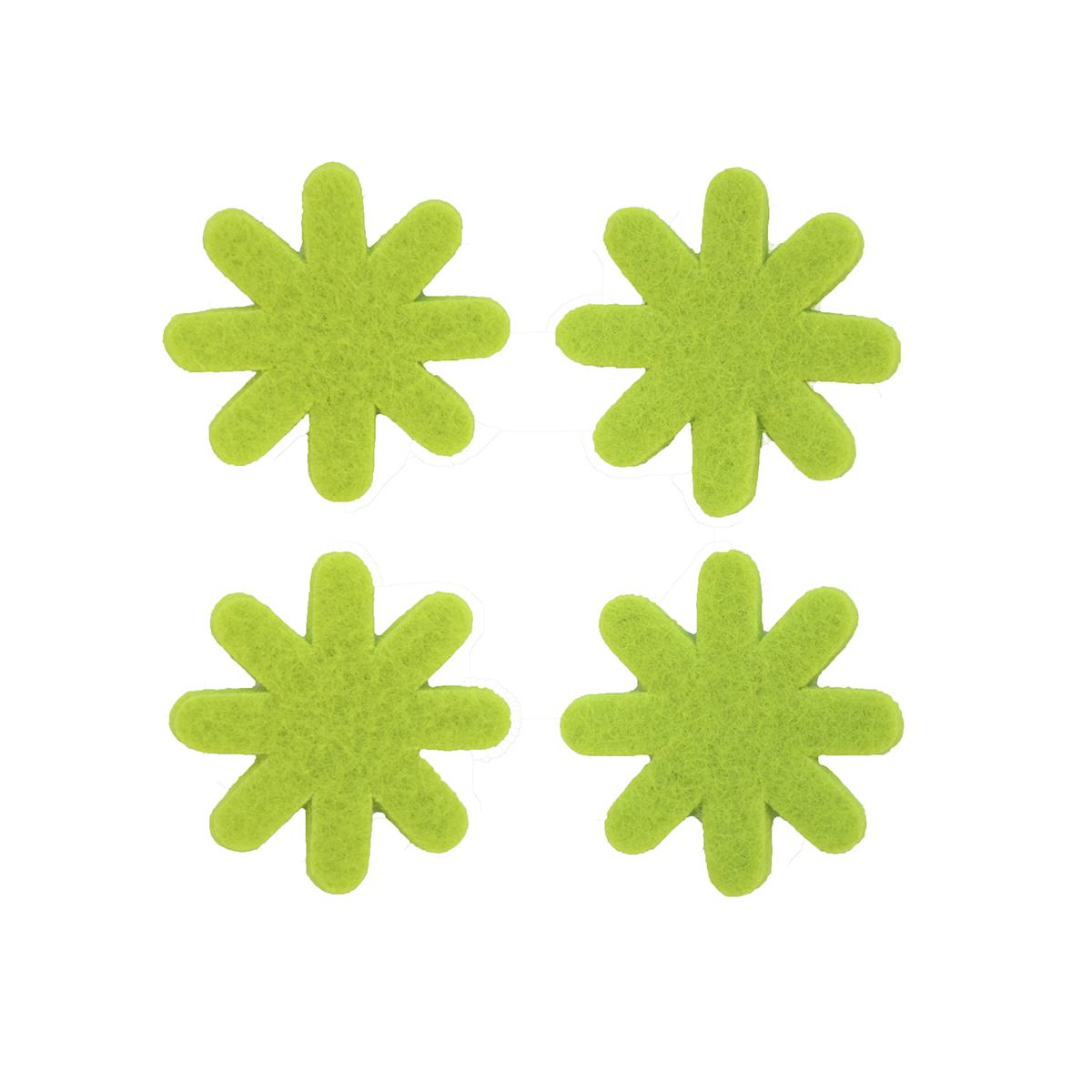 Цветок из фетра Glorex, цвет: светло-зеленый, 3 см, 12 шт97775318Фетр пользуется большой популярностью среди рукодельниц. Его любят за эстетичный вид, практичность и отличную текстуру. Из данного материала вашему вниманию предлагаются заготовки Glorex. Широкое разнообразие цветов и форм поможет реализовать творческие задумки и гармоничным образом дополнить ваше творение. Из фетра можно создавать обложки для книг, ежедневников, игрушки, декоративные чехлы для подушек и многое, многое другое.