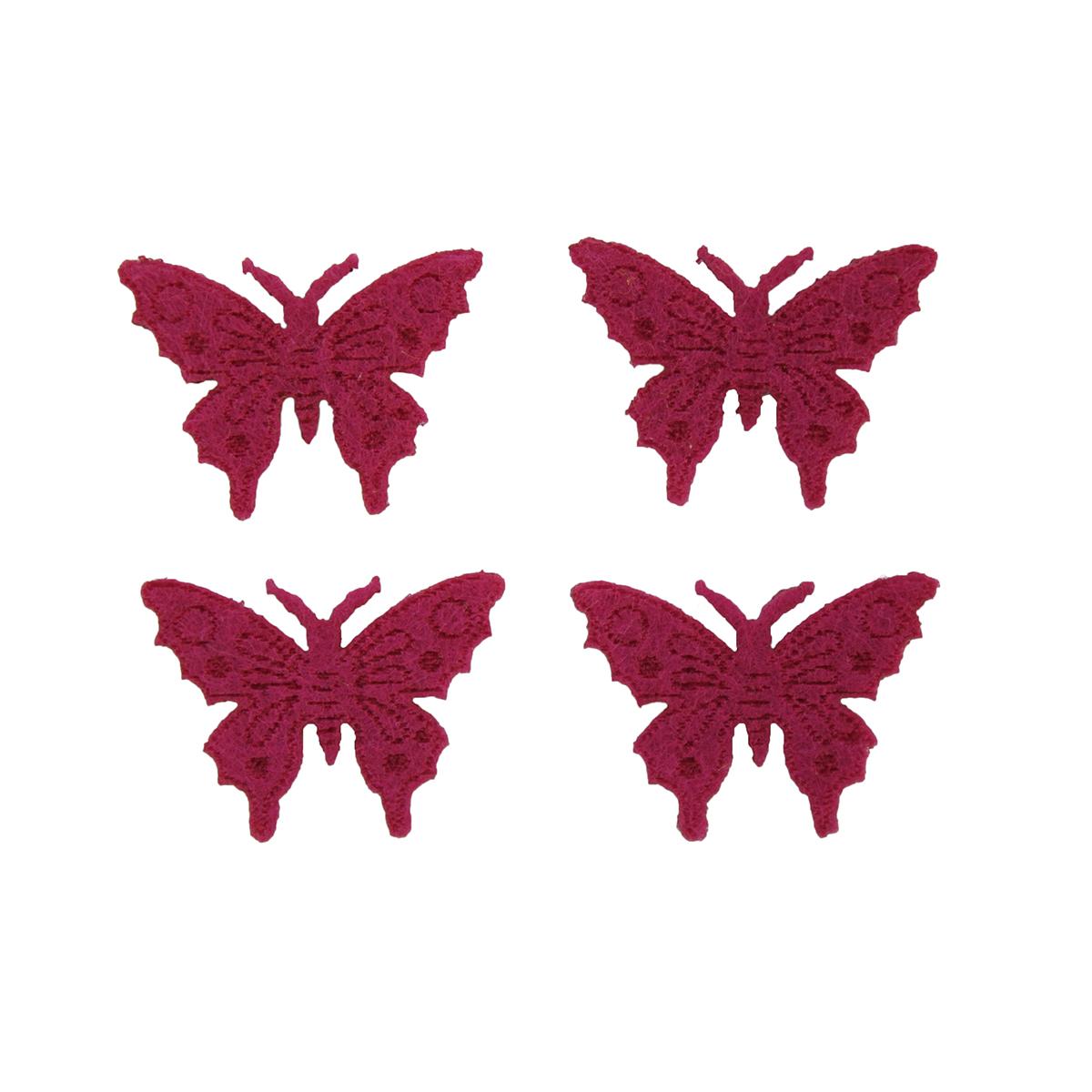 Фигурки из фетра Glorex Бабочки, цвет: розовый, 10 шт09840-20.000.00Фетр пользуется большой популярностью среди рукодельниц. Его любят за эстетичный вид, практичность и отличную текстуру. Из данного материала вашему вниманию предлагаются заготовки Glorex. Широкое разнообразие цветов и форм поможет реализовать творческие задумки и гармоничным образом дополнить ваше творение. Из фетра можно создавать обложки для книг, ежедневников, игрушки, декоративные чехлы для подушек и многое, многое другое.