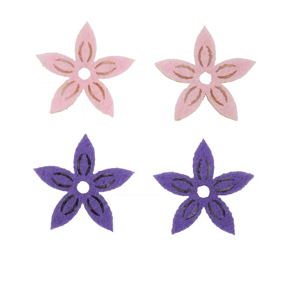 Фигурки из фетра Glorex Цветы, цвет: розовый, фиолетовый, 3 см, 12 шт09840-20.000.00Фетр пользуется большой популярностью среди рукодельниц. Его любят за эстетичный вид, практичность и отличную текстуру. Из данного материала вашему вниманию предлагаются заготовки Glorex. Широкое разнообразие цветов и форм поможет реализовать творческие задумки и гармоничным образом дополнить ваше творение. Из фетра можно создавать обложки для книг, ежедневников, игрушки, декоративные чехлы для подушек и многое, многое другое.