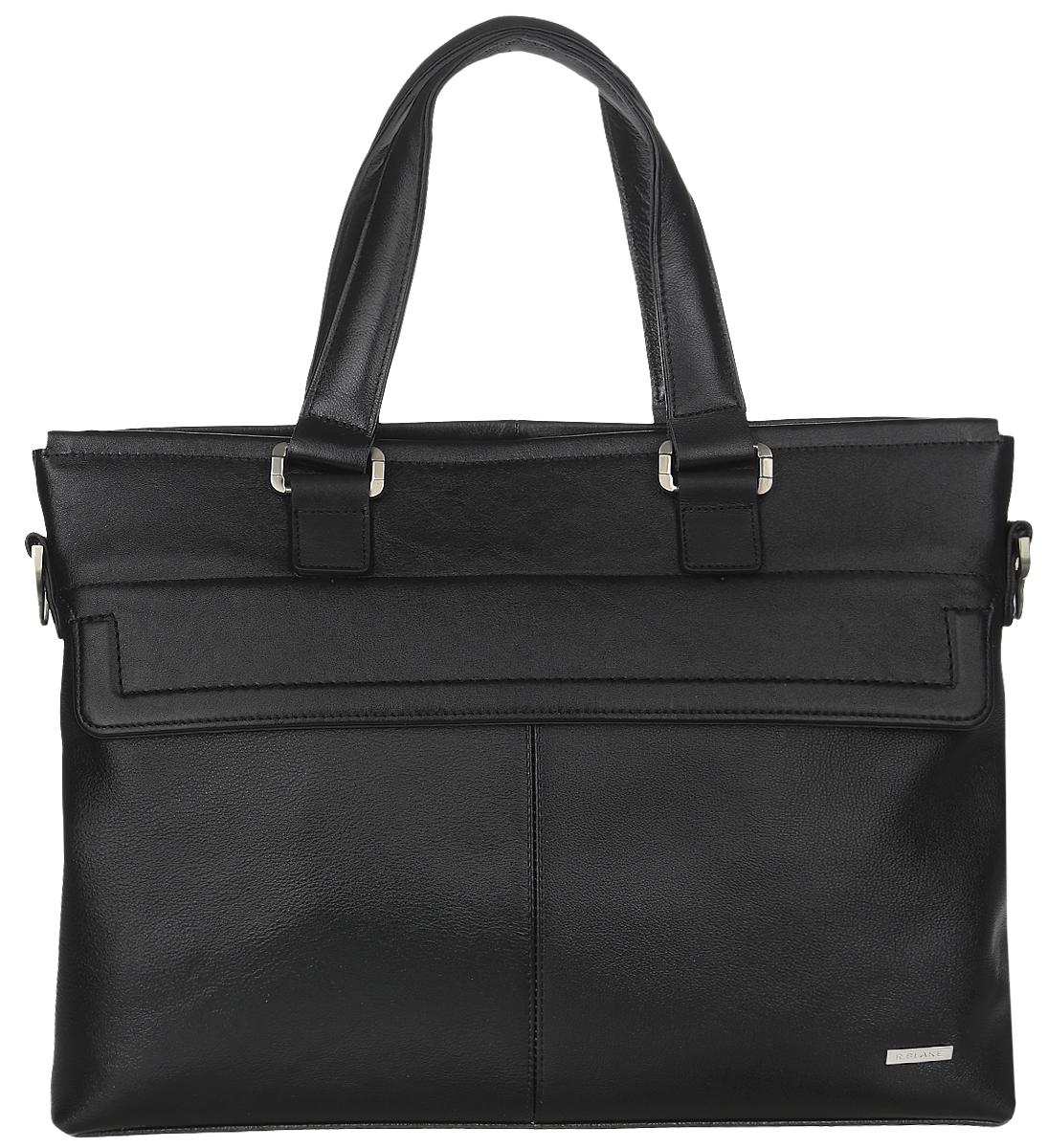 Сумка мужская R.Blake Martin, цвет: черный. GMRI00-00ML06-A0201O-K100EQW-M710DB-1A1Стильная мужская сумка R.Blake Martin выполнена из натуральной кожи. Изделие имеет одно отделение, которое закрывается на застежку-молнию. Внутри сумки расположены открытый накладной карман, мягкий карман для планшета, закрывающийся на хлястик с липучкой, и прорезной карман на застежке-молнии. Снаружи, на передней стенке под клапаном находится прорезной карман на застежке-молнии, на задней стенке - дополнительный прорезной карман на застежке-молнии. Сумка оснащена двумя удобными ручками. В комплект входит съемный текстильный плечевой ремень, который регулируется по длине.Стильная сумка идеально подчеркнет ваш неповторимый стиль.