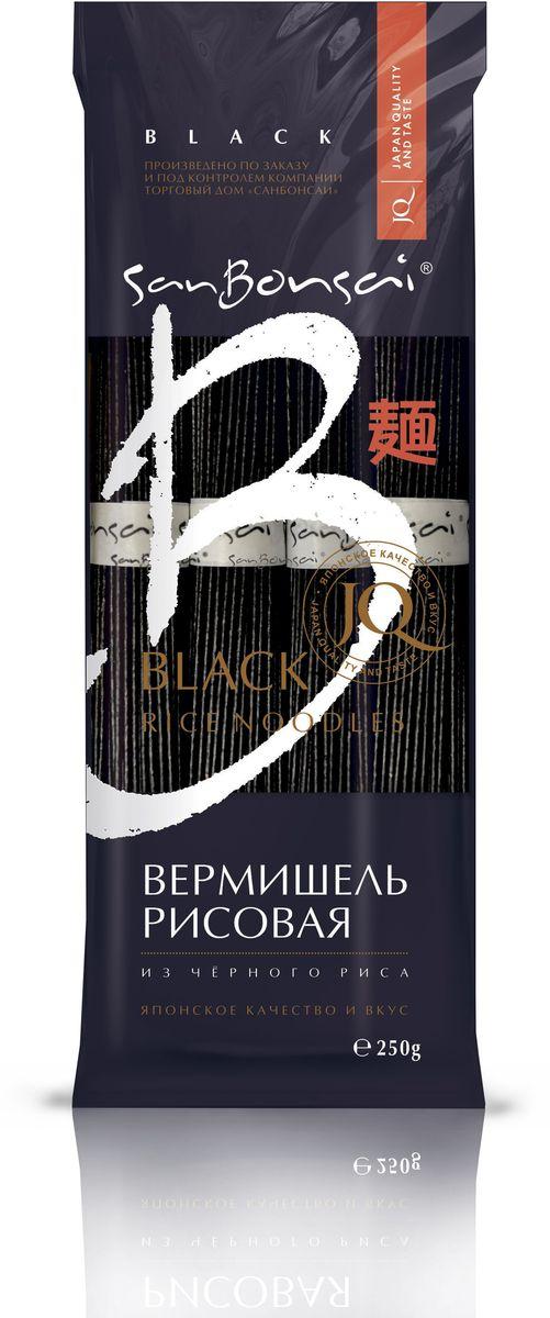 SanBonsai вермишель из черного риса, 250 г0120710Вермишель из черного риса вобрала в себя все полезные свойства черного риса и, благодаря этому, является богатым источником белка, минералов и витаминов групп В и Е. Пищевая ценность черного риса намного ценнее, чем у остальных злаков.