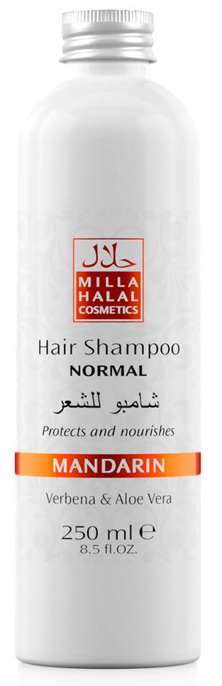 Milla Halal Cosmetics Шампунь для нормальных волос с экстрактами вербены и алоэ вера MILLA MANDARIN, 250МЛMP59.4D100% натуральный продукт. Шампунь быстро и эффективно очищает волосы, стимулирует их рост. Входящий в состав шампуня экстракт листьев и цветов Вербены лекарственной, способствует заживлению ранок кожи головы. Экстракт листьев Алоэ Вера способствует быстрой регенерации клеток кожи.